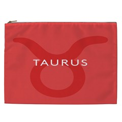 Zodizc Taurus Red Cosmetic Bag (xxl)  by Mariart