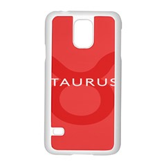 Zodizc Taurus Red Samsung Galaxy S5 Case (white) by Mariart