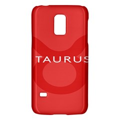 Zodizc Taurus Red Galaxy S5 Mini by Mariart