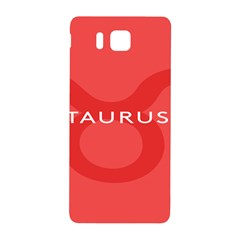 Zodizc Taurus Red Samsung Galaxy Alpha Hardshell Back Case by Mariart