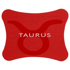 Zodizc Taurus Red Jigsaw Puzzle Photo Stand (bow) by Mariart