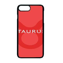 Zodizc Taurus Red Apple iPhone 7 Plus Seamless Case (Black)