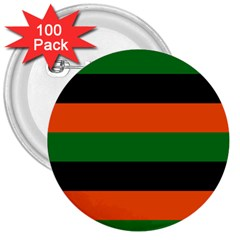 Color Green Orange Black 3  Buttons (100 Pack)  by Mariart