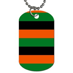 Color Green Orange Black Dog Tag (one Side) by Mariart