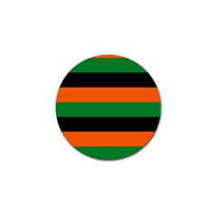 Color Green Orange Black Golf Ball Marker by Mariart