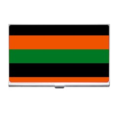 Color Green Orange Black Business Card Holders by Mariart