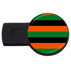 Color Green Orange Black Usb Flash Drive Round (2 Gb) by Mariart