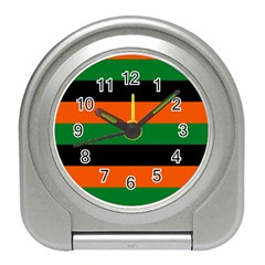 Color Green Orange Black Travel Alarm Clocks by Mariart