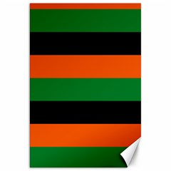 Color Green Orange Black Canvas 20  X 30   by Mariart