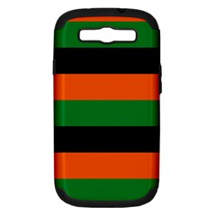 Color Green Orange Black Samsung Galaxy S Iii Hardshell Case (pc+silicone) by Mariart