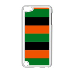 Color Green Orange Black Apple Ipod Touch 5 Case (white) by Mariart