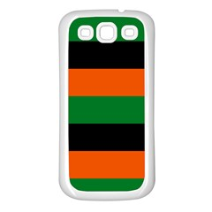 Color Green Orange Black Samsung Galaxy S3 Back Case (white) by Mariart