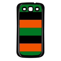 Color Green Orange Black Samsung Galaxy S3 Back Case (black) by Mariart