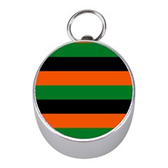 Color Green Orange Black Mini Silver Compasses by Mariart