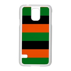 Color Green Orange Black Samsung Galaxy S5 Case (white) by Mariart