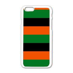Color Green Orange Black Apple Iphone 6/6s White Enamel Case by Mariart