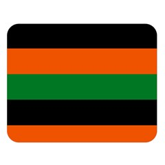 Color Green Orange Black Double Sided Flano Blanket (large)  by Mariart