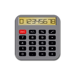 Calculator Rubber Square Coaster (4 Pack)  by Mariart