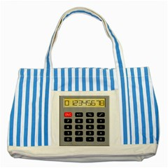 Calculator Striped Blue Tote Bag by Mariart