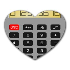 Calculator Heart Mousepads by Mariart