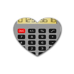 Calculator Rubber Coaster (heart)  by Mariart