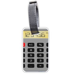 Calculator Luggage Tags (one Side)  by Mariart