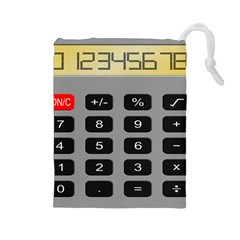 Calculator Drawstring Pouches (large)  by Mariart