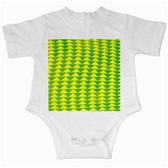 Arrow Triangle Green Yellow Infant Creepers by Mariart