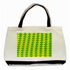 Arrow Triangle Green Yellow Basic Tote Bag by Mariart