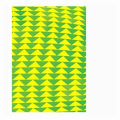 Arrow Triangle Green Yellow Large Garden Flag (two Sides) by Mariart