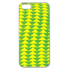 Arrow Triangle Green Yellow Apple Seamless Iphone 5 Case (clear) by Mariart