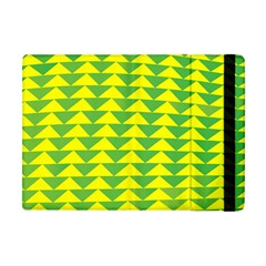 Arrow Triangle Green Yellow Apple Ipad Mini Flip Case by Mariart