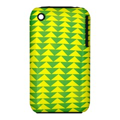 Arrow Triangle Green Yellow Iphone 3s/3gs by Mariart