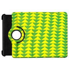 Arrow Triangle Green Yellow Kindle Fire Hd 7  by Mariart