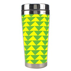 Arrow Triangle Green Yellow Stainless Steel Travel Tumblers by Mariart