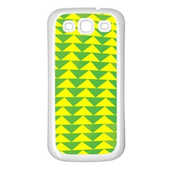 Arrow Triangle Green Yellow Samsung Galaxy S3 Back Case (white) by Mariart