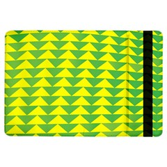 Arrow Triangle Green Yellow Ipad Air Flip by Mariart