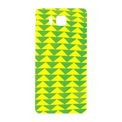 Arrow Triangle Green Yellow Samsung Galaxy Alpha Hardshell Back Case by Mariart
