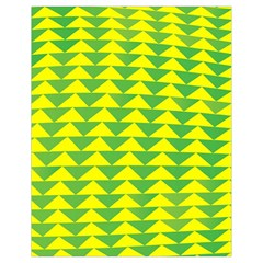 Arrow Triangle Green Yellow Drawstring Bag (small) by Mariart