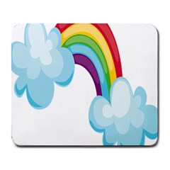 Could Rainbow Red Yellow Green Blue Purple Large Mousepads by Mariart