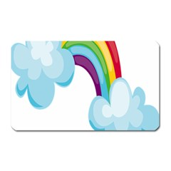 Could Rainbow Red Yellow Green Blue Purple Magnet (rectangular) by Mariart