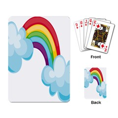 Could Rainbow Red Yellow Green Blue Purple Playing Card by Mariart