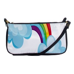 Could Rainbow Red Yellow Green Blue Purple Shoulder Clutch Bags by Mariart