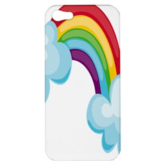 Could Rainbow Red Yellow Green Blue Purple Apple Iphone 5 Hardshell Case by Mariart