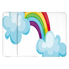Could Rainbow Red Yellow Green Blue Purple Samsung Galaxy Tab 8 9  P7300 Flip Case by Mariart
