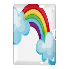 Could Rainbow Red Yellow Green Blue Purple Kindle Fire Hdx 8 9  Hardshell Case by Mariart