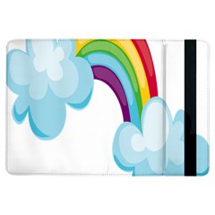 Could Rainbow Red Yellow Green Blue Purple Ipad Air Flip by Mariart