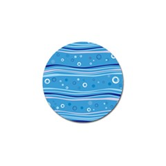 Blue Circle Line Waves Golf Ball Marker (10 Pack) by Mariart