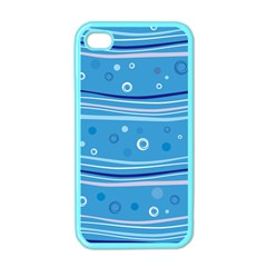 Blue Circle Line Waves Apple Iphone 4 Case (color) by Mariart