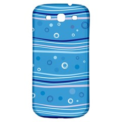 Blue Circle Line Waves Samsung Galaxy S3 S Iii Classic Hardshell Back Case by Mariart